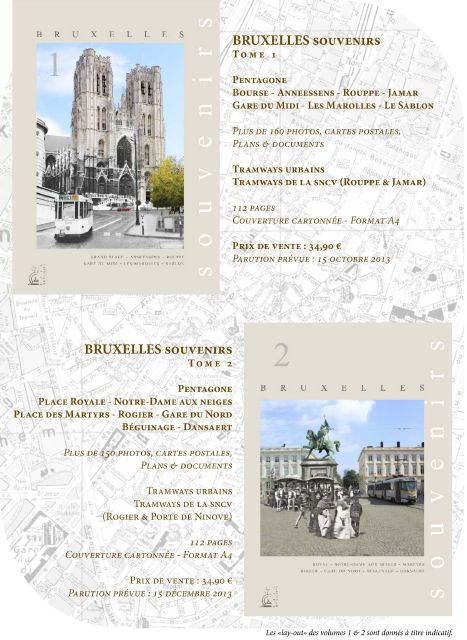 Livre sur les tramways de Bruxelles 1 et 2